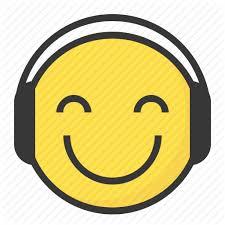 Head Emoji with Earphones